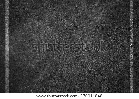 Asphalt Road Texture with White Strips - stock photo