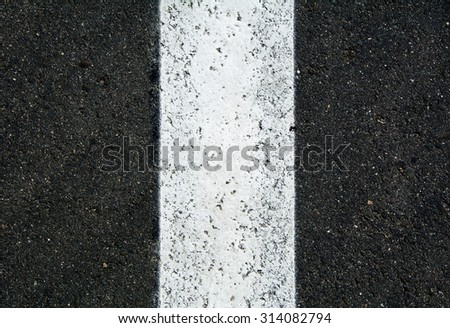 Asphalt road top view background / Texture of an asphalt road / seamless close up / New asphalt texture with white line / Asphalt pavement Seamless Tileable Texture. - stock photo