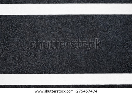 Asphalt road with marking line - stock photo