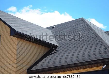 Asphalt Shingles Roofing Construction, Repair. Problem Areas For House  Asphalt Shingles Corner Roofing Construction