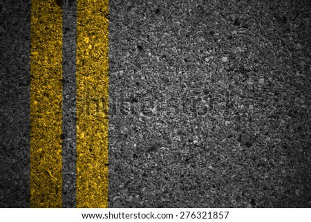 Asphalt surface of road with lines