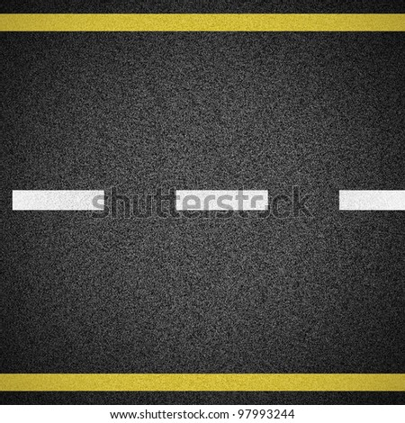 Asphalt texture with copy space and vignette effect