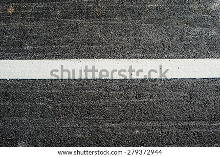 Asphalt with white road line