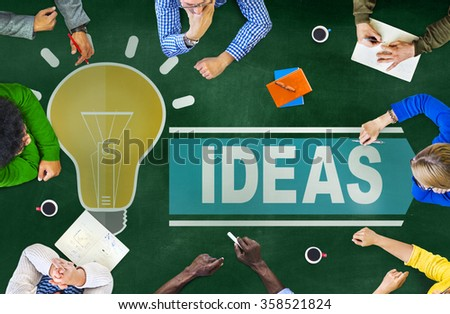 Aspirations Ideas Thinking Innovation Vision Strategy Concept - stock photo