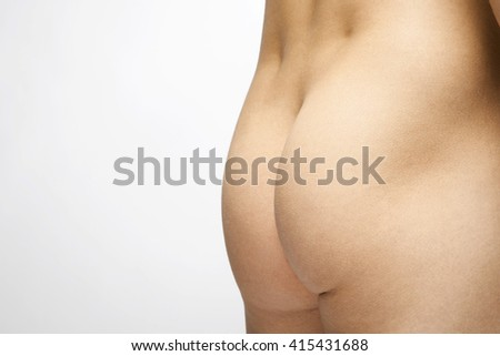 Ass of man on a white background
