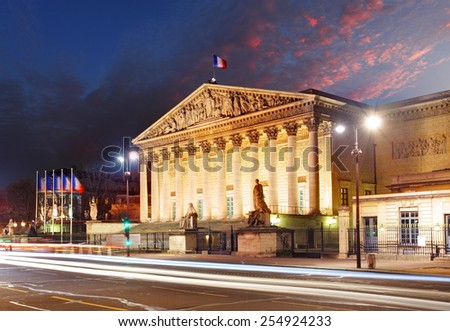 Assemblee Nationale (Palais Bourbon) - the French Parliament, Paris