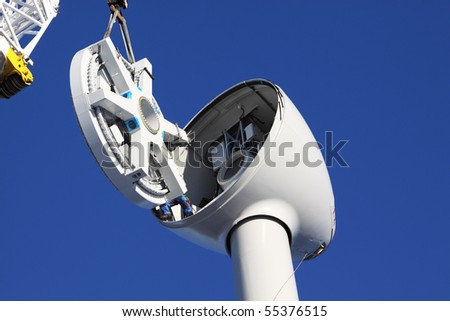 assembling turbine - stock photo