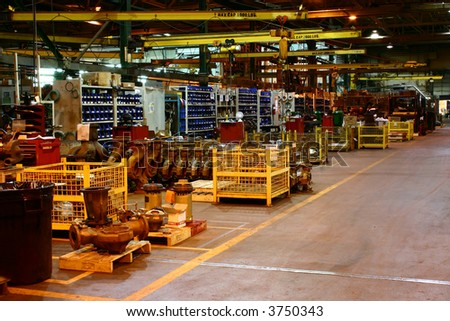 Assembly Line at a Metal Working Factory.