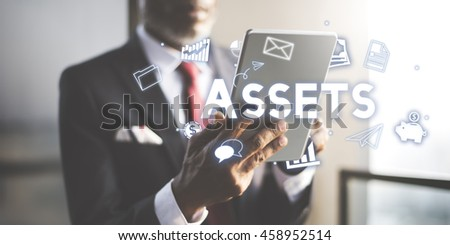 Assets Property Holdings Goods Capital Budget Concept - stock photo