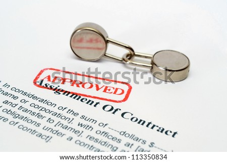 Assignment of contract - stock photo