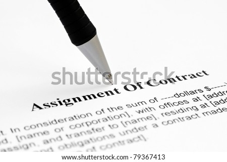 Assignment Contract Stock Photo Royalty Free   Shutterstock