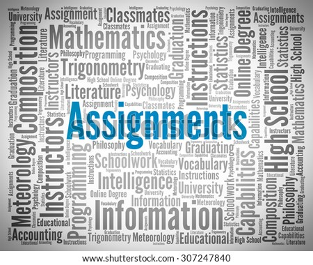 Assignments Word Representing Tasks Undertaking And Words