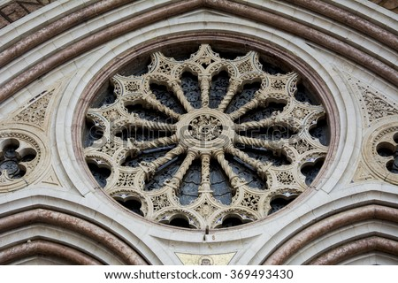 Assisi (Italy) Church/Basilica of St Francis (San Francesco): particular of rear - stock photo