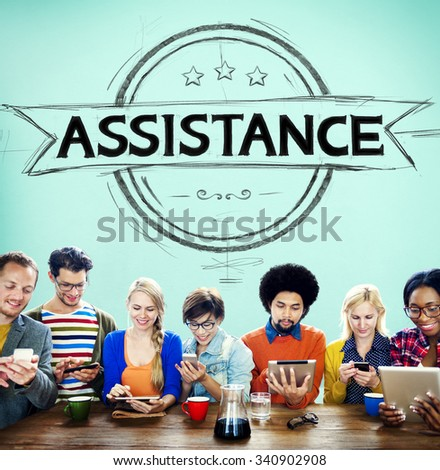 Assistance Collaboration Cooperation Help Support Concept - stock photo