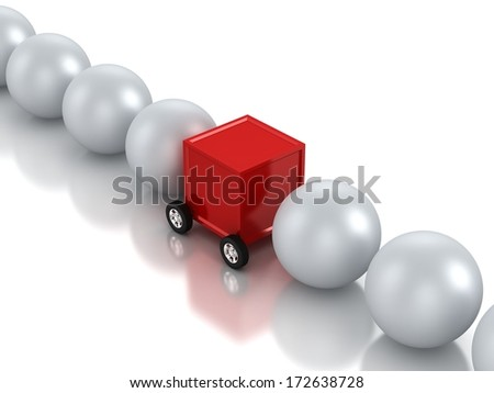 Assisted Transportation - stock photo