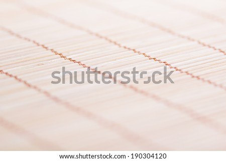 associated thread bamboo mat bright. perspective. macro - stock photo
