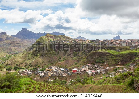 Assomada in Santiago Island Cape Verde - Cabo Verde - stock photo