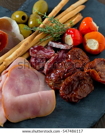 assorted antipasti