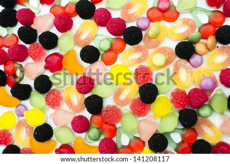 Assorted Candies Close Up
