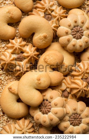 Assorted cookies for Christmas - stock photo