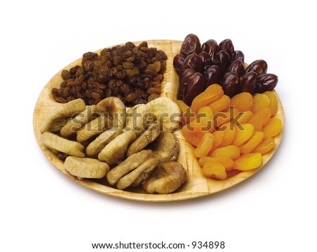Assorted dry fruits - stock photo