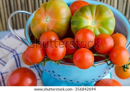 Assorted fresh tomatoes - stock photo