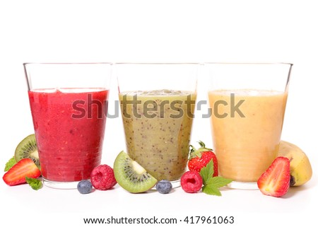 assorted fruit smoothie