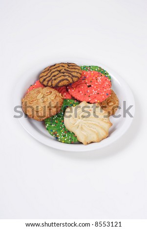 Assorted holiday cookies