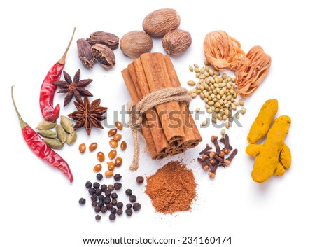 Assorted Indian Spices - stock photo
