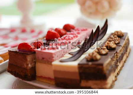 assorted mini cakes on a plate