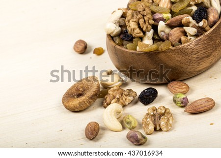 Assorted nuts, dry fruits, mix nuts