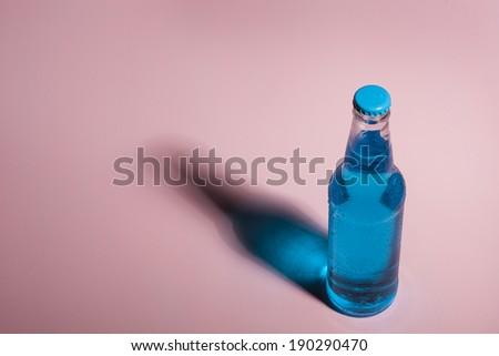 Assorted Organic Blue Craft Sodas with Cane Sugar - stock photo