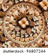 assorted ottoman sweets - baklava - stock photo