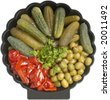 Assorted pickled appetizer - stock photo