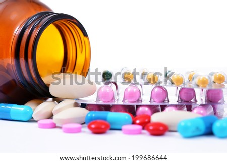 Assorted pills