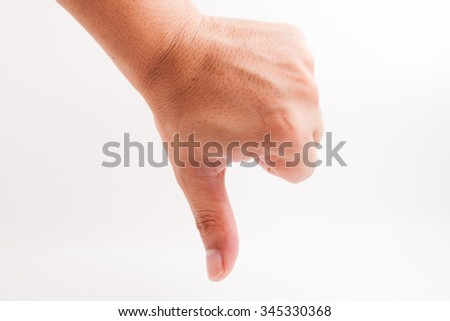 Assorted popular hand signal with different meaning to portray what we mean without words. -stock photo.