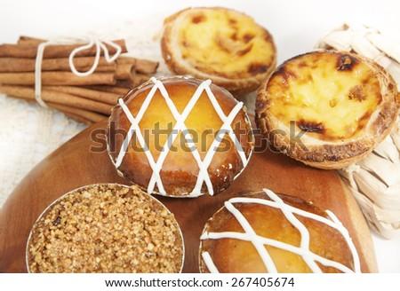 Assorted Portuguese Tarts - stock photo