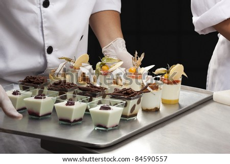 Assorted verrine desserts - stock photo