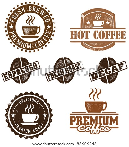 Assorted Vintage Coffee Graphics