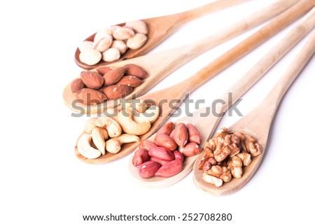 Assortment nuts - stock photo
