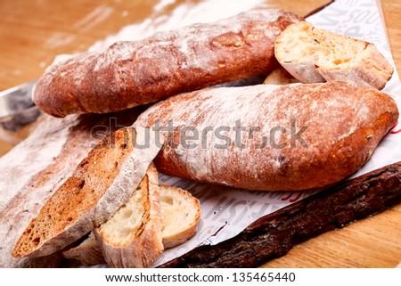 Assortment of bread - stock photo