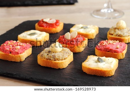 Assortment of canapes