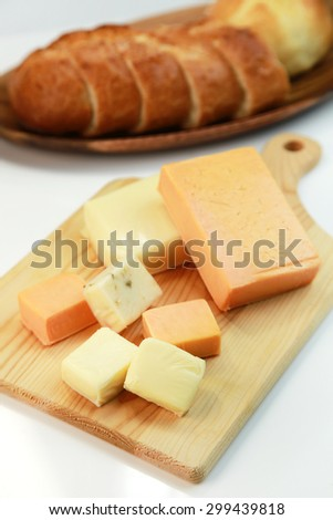 assortment of cheese - stock photo
