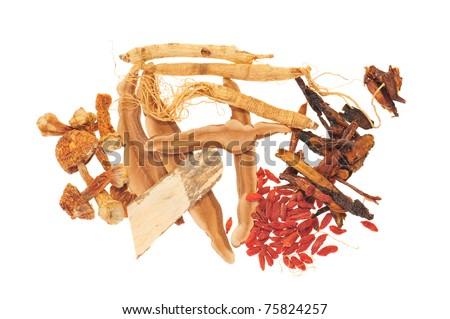 Assortment Of Chinese Herb - stock photo