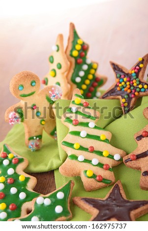 assortment of christmas cookie