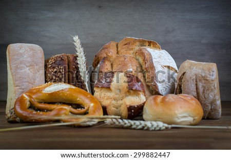 Assortment of different types of bread