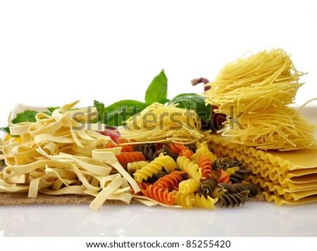 Assortment Of Italian Pasta , Close Up Shot - stock photo