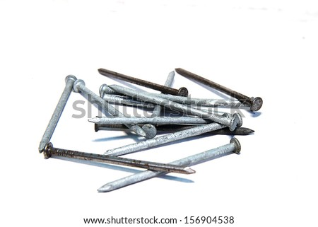 Assortment of nails  - stock photo