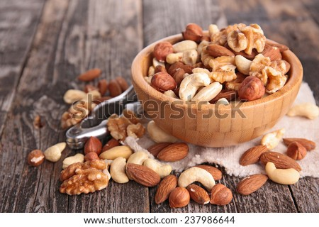 assortment of nuts - stock photo