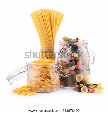 assortment of pasta - stock photo